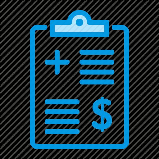 List, Medical, Price Icon