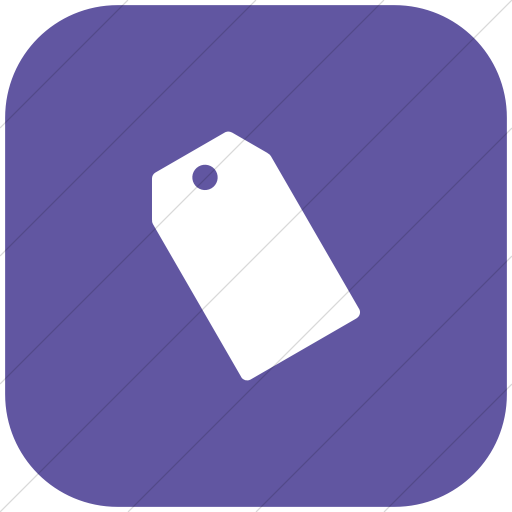 Flat Rounded Square White On Purple Foundation Price
