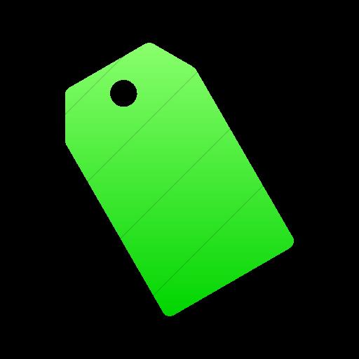Simple Ios Neon Green Gradient Foundation Price Tag Icon