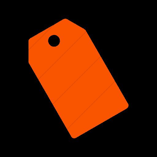 Simple Orange Foundation Price Tag Icon