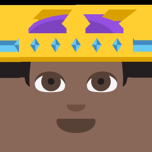 Prince Dark Skin Tone Emoji Emoticon Vector Icon Free Download