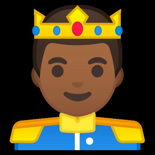 Prince Medium Dark Skin Tone Icon Noto Emoji People Profession