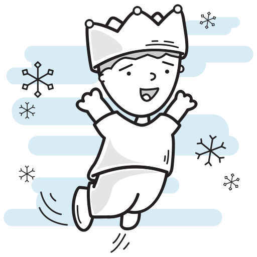 Crown, Lord, Prince, Leaping, Boy, King, Christmas Icon