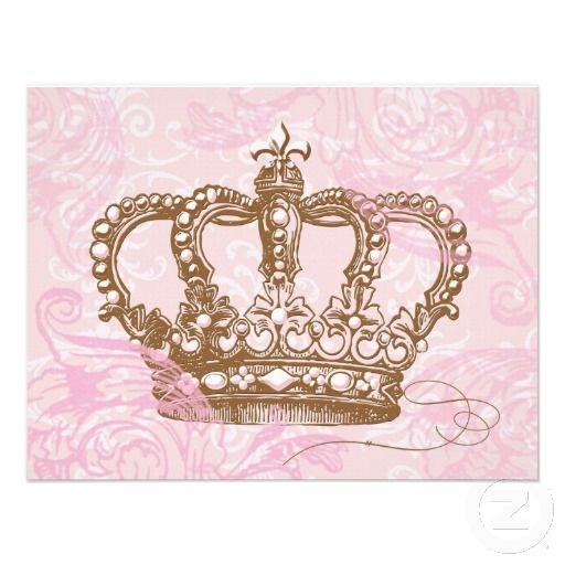 Pink Princess Crown Invitations Tattoos