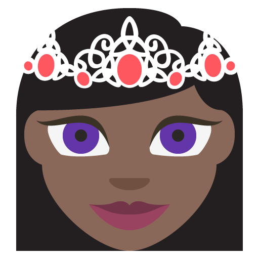 Princess Dark Skin Tone Emoji Emoticon Vector Icon Free Download