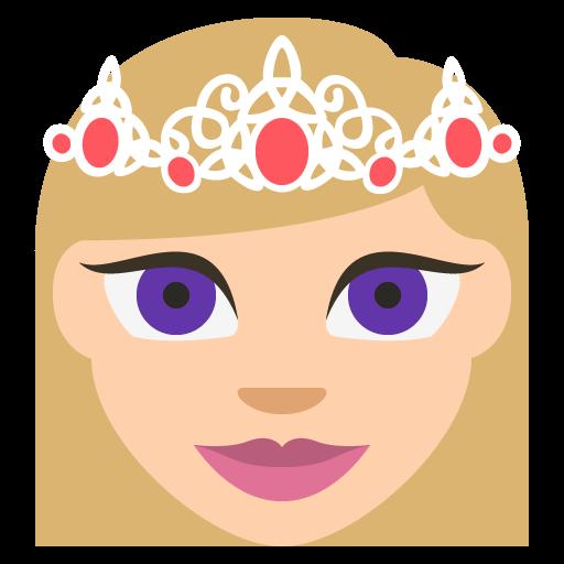Princess Medium Light Skin Tone Emoji Emoticon Vector Icon Free
