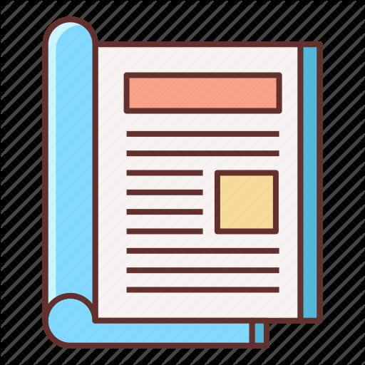 Layout, Magazine, Magazine Design, Print Design Icon