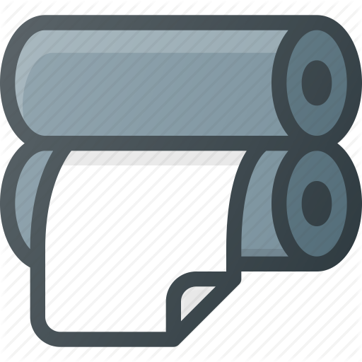 Paper, Press, Printing, Roll, Roller Icon