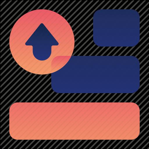 Arrow, List, Move, Priority, Up Icon