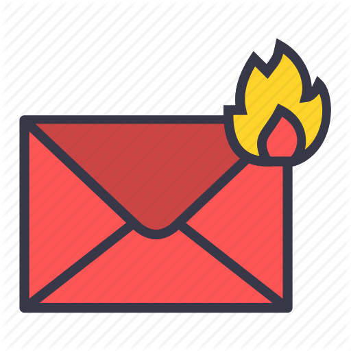 Burn, Email, Fire, Hot, Mail, Message, Top Priority Icon