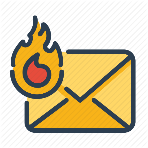 Email, Fire, Hot, Top Priority Icon