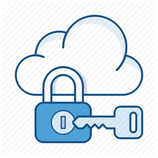 Cloud, Key, Lock, Private Cloud, Protection, Secure, Service Icon