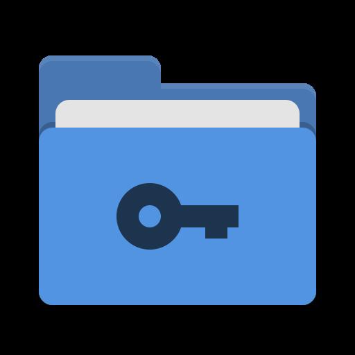 Folder Blue Private Icon Papirus Places Iconset Papirus