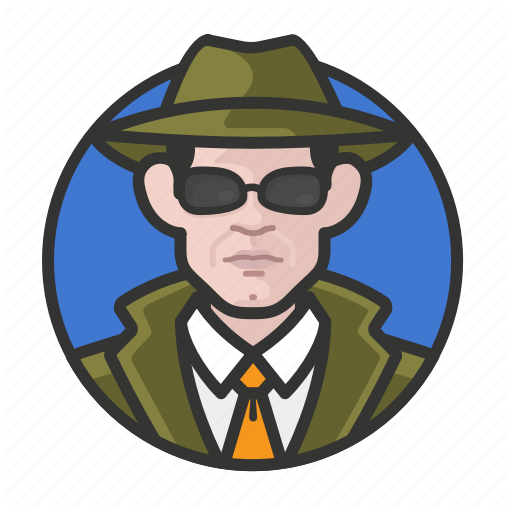 Avatar, Avatars, Detective, Investigator, Man, Private Eye Icon
