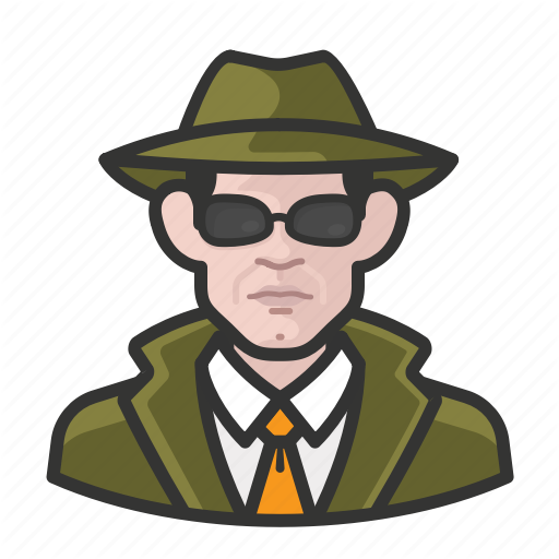 Avatar, Avatars, Detective, Man, Private Eye Icon