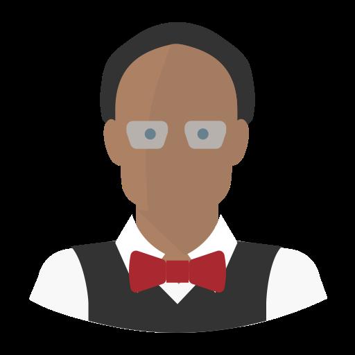 Avatar Black Man Professor, Professor, Teacher Icon Png And Vector