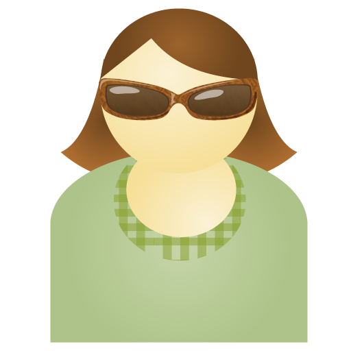 Free Sunglass Woman Green Account Person People Human User