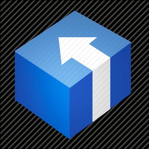 Arrow, Blue, Box, Install, Package, Program Icon