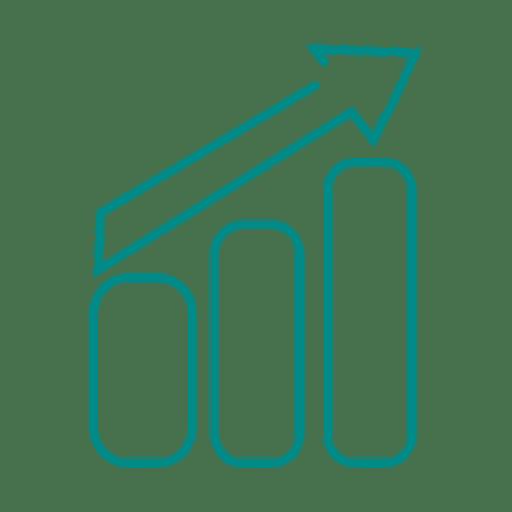 Blue Progress Bar Line Icon