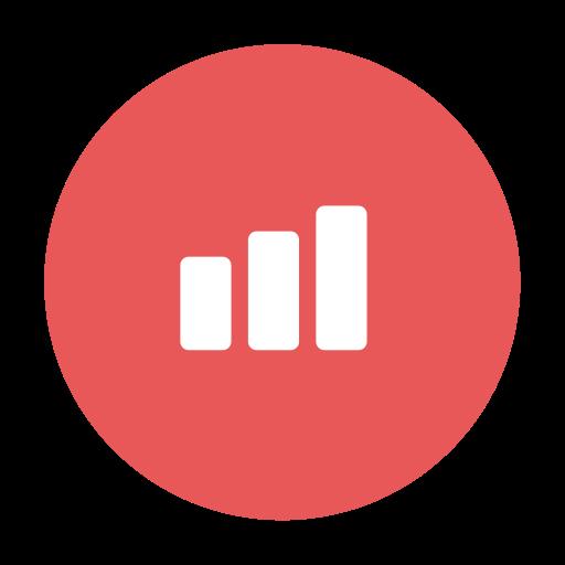 Graph, Modern, Figures, Chart, Red, Progress, Success Icon