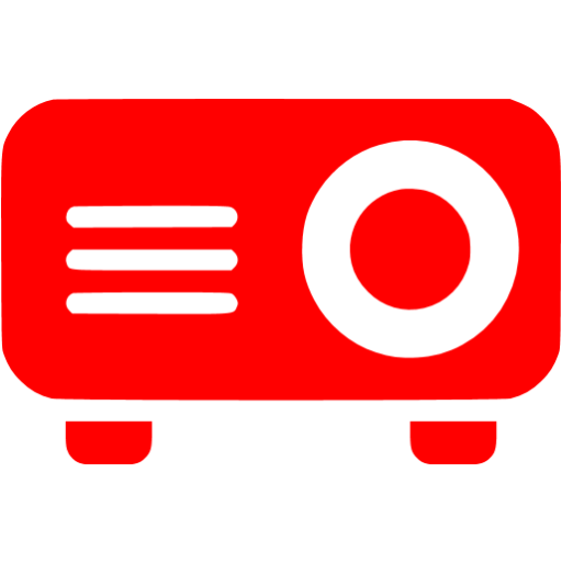 Red Video Projector Icon