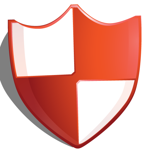 Protection, Red, Shield Icon