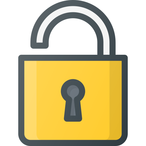 Security, Protection, Protect, Lock, Open, Secure Icon Free