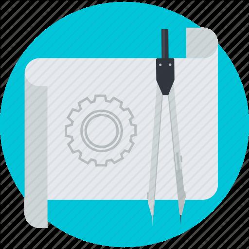 Development, Engineering, Project, Prototype, Round Icon