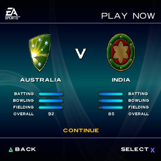 Cricket Screenshots For Playstation