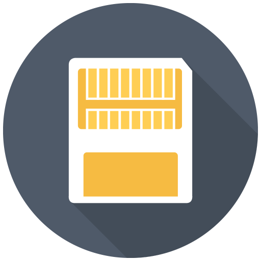 Memory Card Icon Free Flat Multimedia Iconset Designbolts
