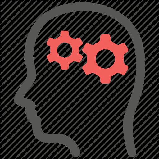 Brain, Gear, Logic, Mental, Mind, Psychiatry, Psychology Icon