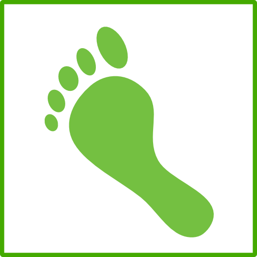 Eco Green Carbon Footprint Icon Clipart