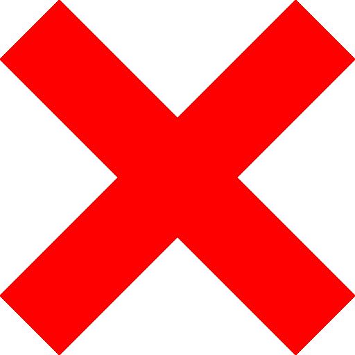 X Icon Clipart