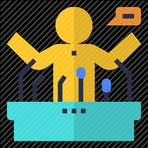 Announcement, Keynote, Public, Speaker, Speaking Icon