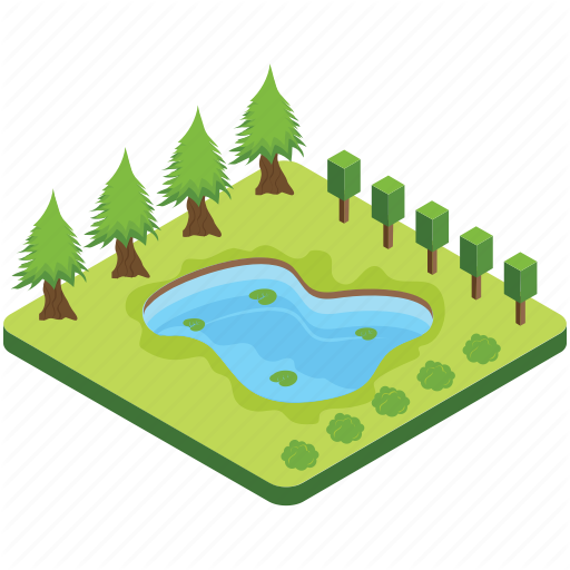 Lake, Pond, Pool, Puddle, River Icon