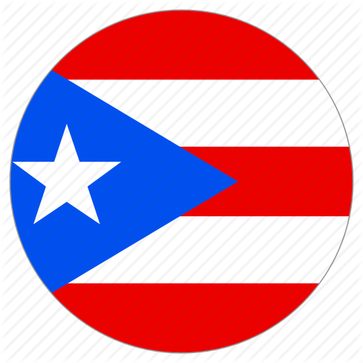 Circle, Country, Flag, Puerto Rico Icon