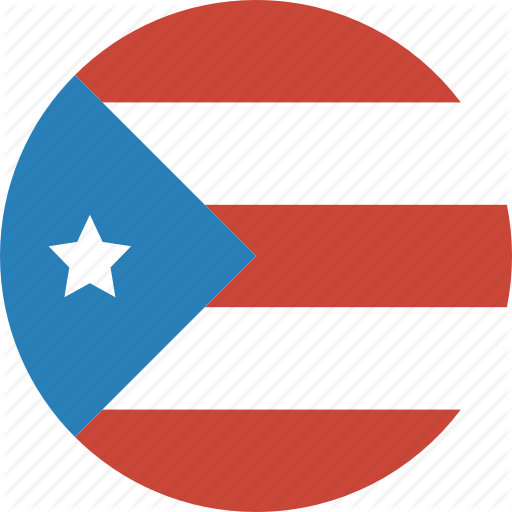 Circle, Flag, Puerto, Rico Icon