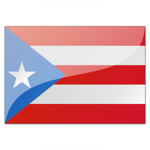 Iconexperience V Collection Flag Puerto Rico Icon