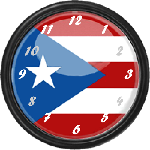Puerto Rico Flag Clock Widget Amazon Ca Appstore For Android