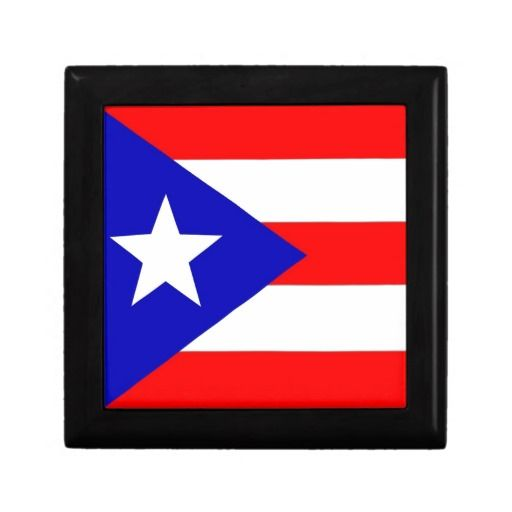 Puerto Rico Flag Keepsake Box Box