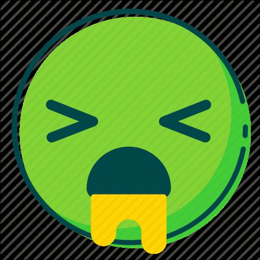 Avatar, Emoji, Emoticon, Face, Puke Icon