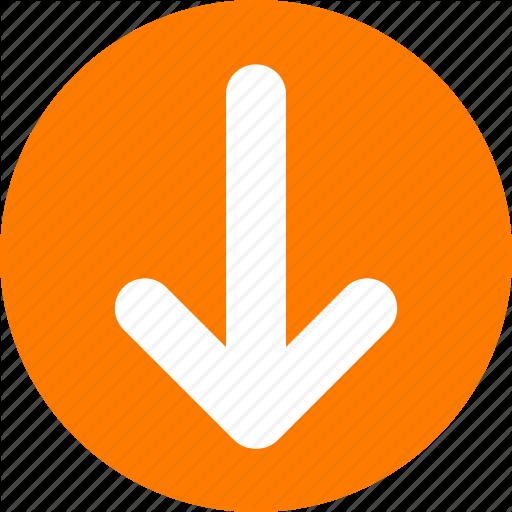 Arrow, Bottom, Down, Orange, Orange Arrow, Pull Icon