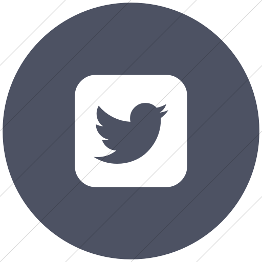 Flat Circle White On Blue Gray Bootstrap Font Awesome