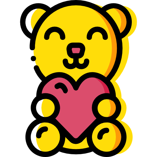 Fluffy, Love And Romance, Animals, Teddy Bear, Childhood, Puppet Icon