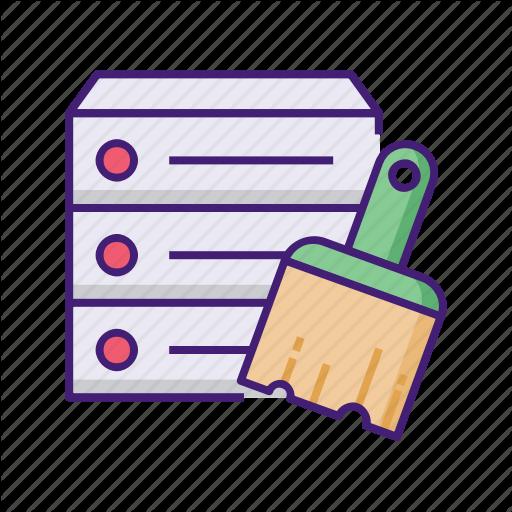 Cache, Cleaning, Database, Hardisk, Purge, Storage Icon