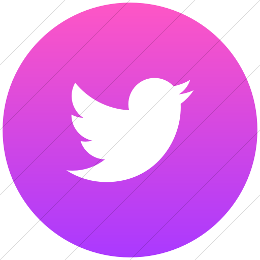 Flat Circle White On Ios Pink Gradient Social Media
