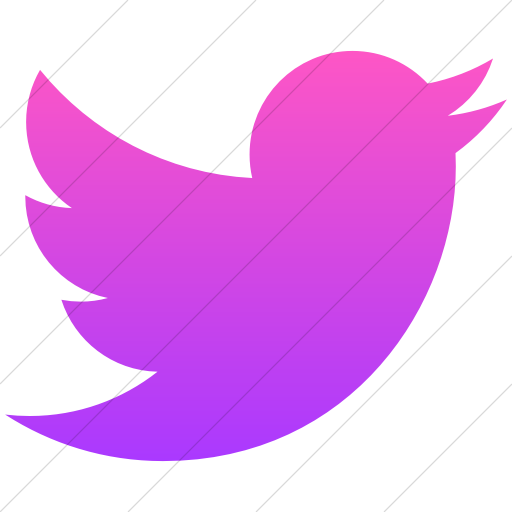 Simple Ios Pink Gradient Social Media Twitter Icon