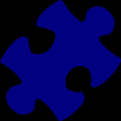 Navy Blue Puzzle Icon