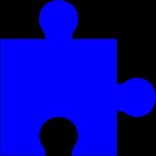 Blue Puzzle Piece Icon