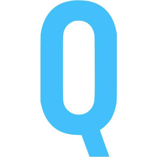 Caribbean Blue Letter Q Icon